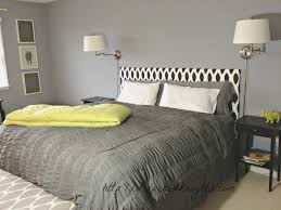 bedroom upholstered headboards in white and black with gray