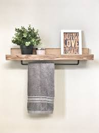 Wood Shelf Gallery Rail by The 25 Best Bathroom Shelves Ideas On Pinterest Half Bath Decor