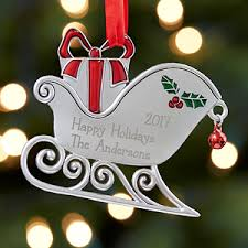 personalized metal ornaments santa s sleigh