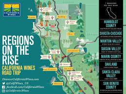 Sonoma Winery Map Explore California U0027s Wine Regions On The Rise California Wines