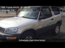 toyota rav4 convertible for sale 1998 toyota rav4 base 2dr suv w top for sale in lancas