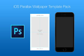 wallpaper template free ios parallax wallpaper template pack on behance