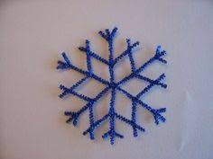frosted pipe cleaner snowflake ornaments pipes ornament and