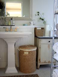 bathroom contemporary bathroom decor ideas with wricker lovely white bathroom ceramics softened and warmed by the use of