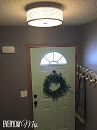 Foyer Light Fixture Entryway Update Light Fixture Everyday Mrs