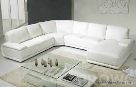 White Leather Living Room Set Simplicity White Sofa Settee Modern Furniture U Shaped Sale