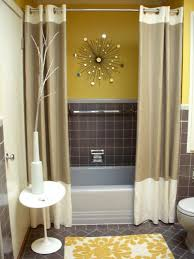 bathroom design curtain wet room yellow wall bathroom ideas