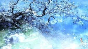 winter anime wallpaper hd blue scenery wallpaper anime winter scenery wallpaper download free