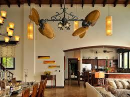 double ceiling fans rustic dining room miami by dan u0027s fan