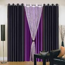Purple Curtains Iws Polyester Eyelet Black Purple Curtains For Doors Curtains