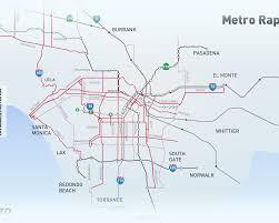 Los Angeles Subway Map angeles subway map