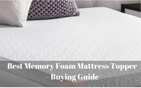 best memory foam mattress topper reviews 2017 sleepholic