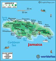 jamaica physical map geography of jamaica landforms world atlas