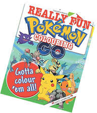 fun pokemon colouring book mickey macintyre 64pages