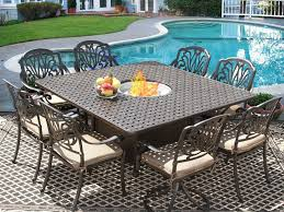 Square Patio Table Eli 64x64 Square Outdoor Patio 9pc Dining Set For 8 Person With