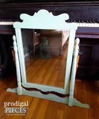 Antique Vanity Mirror Vintage Vanity Painted Tea Rose Pink Prodigal Pieces