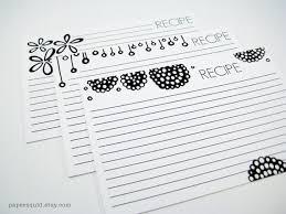 printable recipe cards 4 x 6 4x6 inch recipe cards printable diy 3 designs color version and