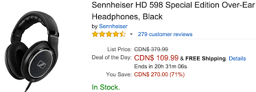 black friday in ear headphones amazon amazon canada black friday deals of the day save 71 on