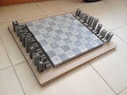chess concrete beton cement design gifts handmade mjbeton