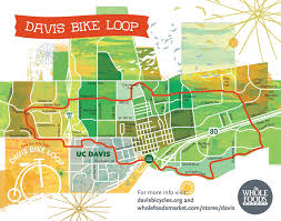 davis map biking davis downtown