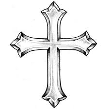 beautiful cross drawing clipartxtras