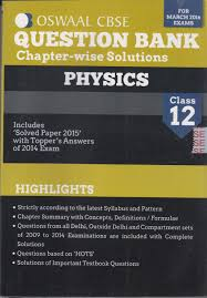 oswaal cbse question bank physics class 12 for march 2016
