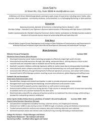 examples of resumes for internships resume example and free
