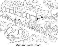 clip art vector car cartoon illustration coloring book