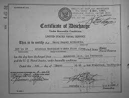 honorable discharge certificate rounsefell one name study harry nugent rounsefell 1945 honorable