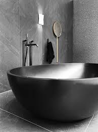 foto vasche da bagno vasca da bagno centro stanza colore grigio scuro e nero