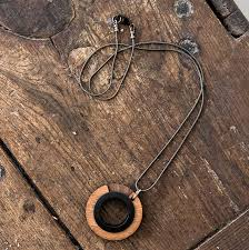 wood pendant necklace images Men 39 s minimal round wooden pendant by industrial jewellery jpg