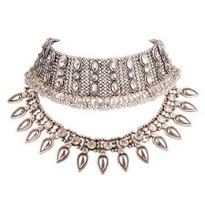 silver necklace chokers images Silver choker necklaces polyvore out=j