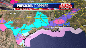 Snowfall Totals Map First Warn Weather Team Accumulating Snow Falling In South Texas