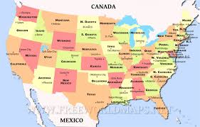 Map Of Canada And Us Clipart United States Map With Capitals And State Names United