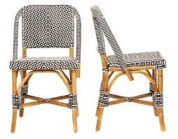 Chrome Bistro Chairs Bistro L U0027afrique 32 U201dh Black And White Pattern Bistro Chairs A