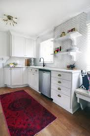 small kitchen remodel with white cabinets small kitchen makeover with white and brass details