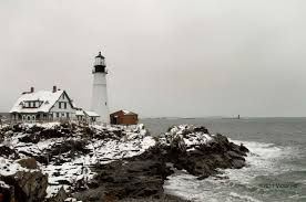 portland head light lighthouse portland head light snow photobackstory