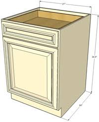 Tuscany Single Door Base RTA Cabinets RTA Cabinet Store - Single kitchen cabinet