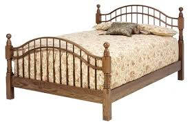 cambridge oak cannonball bed countryside amish furniture