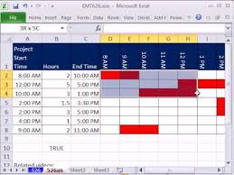Hourly Gantt Chart Excel Template Excel Magic Trick 626 Gantt Chart Conditional Formatting