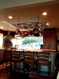 Kitchen Island With Hanging Pot Rack Kitchen Glamorous Pot Rack Island Hanging Holders Plant