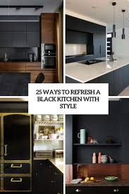black kitchen cabinets with walls 25 ways to refresh a black kitchen with style digsdigs