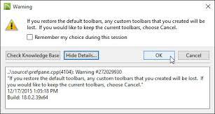 troubleshooting missing toolbars