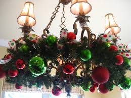 Homemade Outdoor Chandelier by Decorations Christmas Decorating Ideas With Red And Green Ball