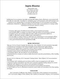 Copywriter Resume Template Professional Communications Specialist Templates To Showcase Your
