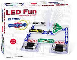 snap circuits lights electronics discovery kit amazon com elenco electronics scp 11 snap circuits led fun science