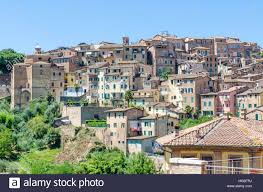 Italy Houses by View Over Typical Historic Italian Houses In Unesco World Heritage