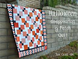 halloween disappearing 9 patch quilt