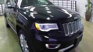 black jeep grand cherokee jeep grand cherokee summit black full review youtube