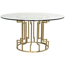 noir spool dining table gold u2013 ldc home